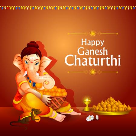 traditional culture: Lord Ganpati on Ganesh Chaturthi background