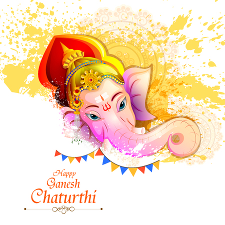 Lord Ganpati on Ganesh Chaturthi background