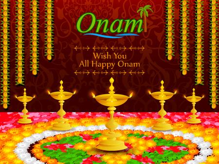 sravanmahotsav: Colorful pookalam flower rangoli for Onam festival of Kerala