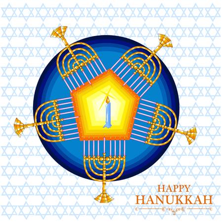 Happy Chanukka für Israel Festival of Lights Feier