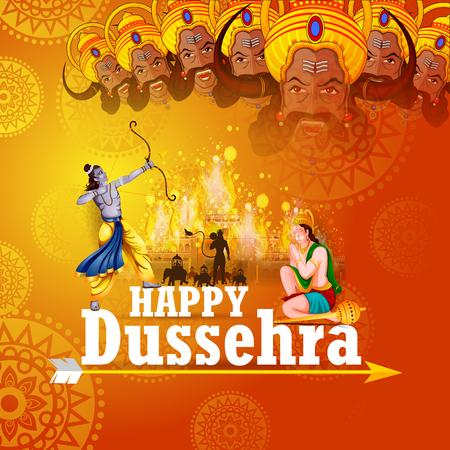 Gelukkige Dussehra-achtergrond die festival van India toont