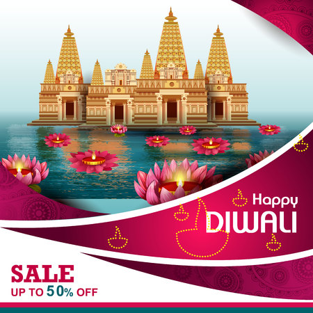 illustration of Happy Diwali shopping sale offer
