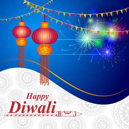 Decorated for Happy Diwali background Illustration