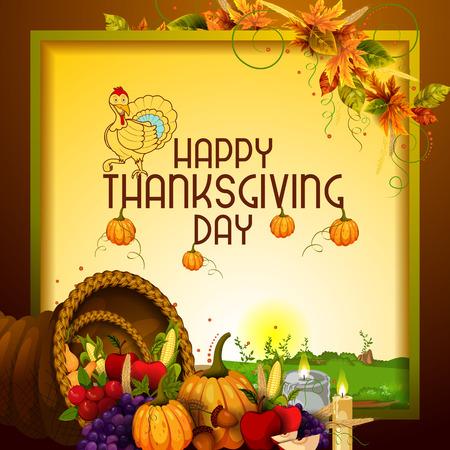 Thanksgiving Oogst festival achtergrond Stock Illustratie