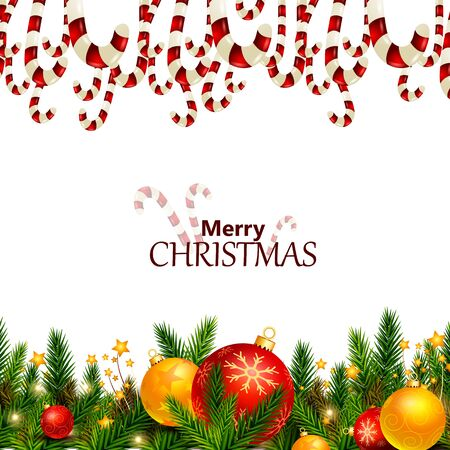 Decoration for Happy New Year and Merry Christmas greeting