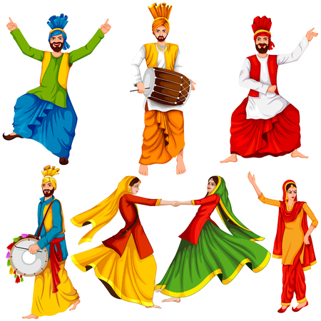 Easy to edit vector illustration on Happy Lohri festival of Punjab India background Stok Fotoğraf - 91206206