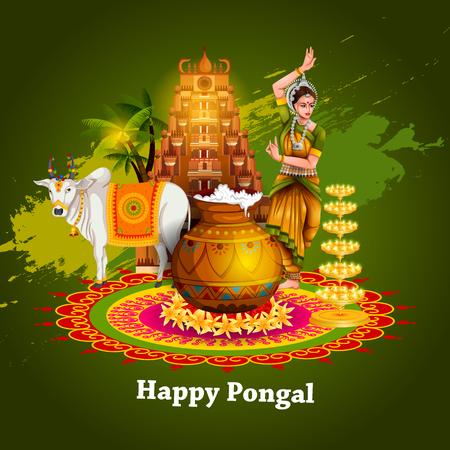 Joyeux festival Pongal du Tamil Nadu en Inde