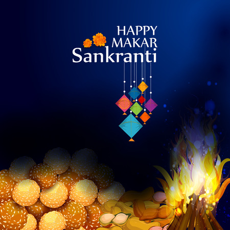 Happy Makar Sankranti background
