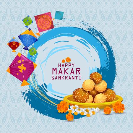 해피 마카 Sankranti 배경 스톡 콘텐츠 - 91896509