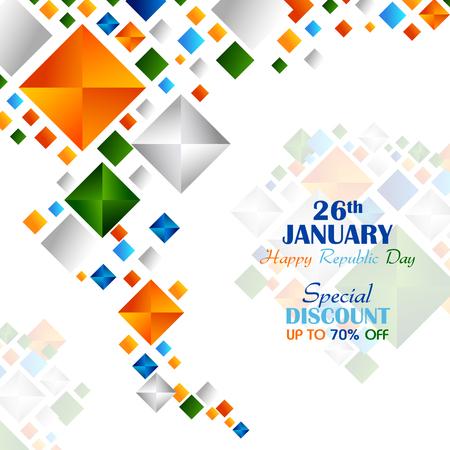 Ashoka Chakra on Happy Republic Day of India Sale background