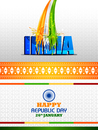 Colorful splash background for Happy Republic Day of India