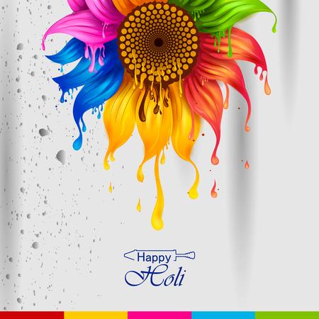 easy to edit vector illustration of Colorful splash for Holi background