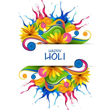 Facile à modifier illustration vectorielle de splash coloré pour fond holi Banque d'images - 93153836