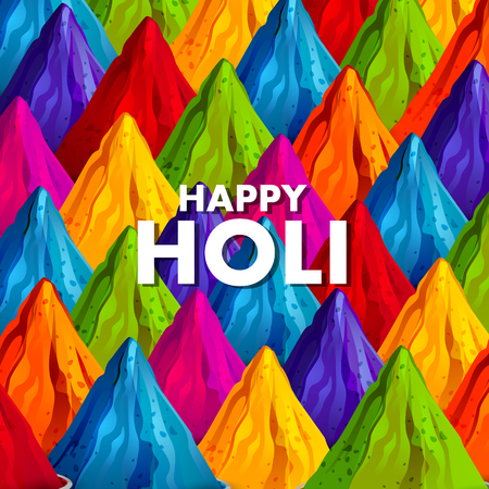 easy to edit vector illustration of Colorful Happy Hoil background for festival of colors in India