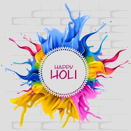 Easy to edit vector illustration of colorful splash for Happy Holi background illustration. Illustration