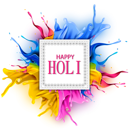 easy to edit vector illustration of Colorful splash for Holi background