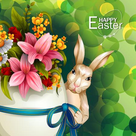 Happy Easter greeting background Illustration