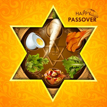 Jewish holiday design of Passover.