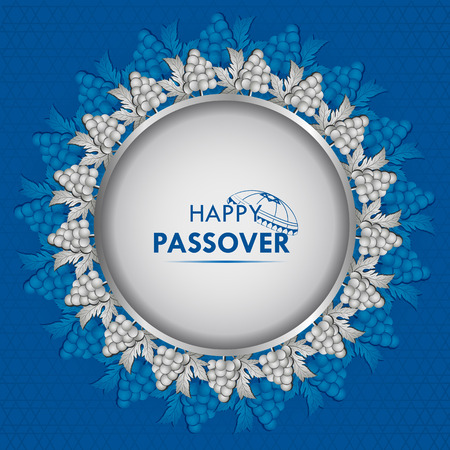 Jewish holiday of Passover Pesach Seder illustration. Stock Vector - 95177811