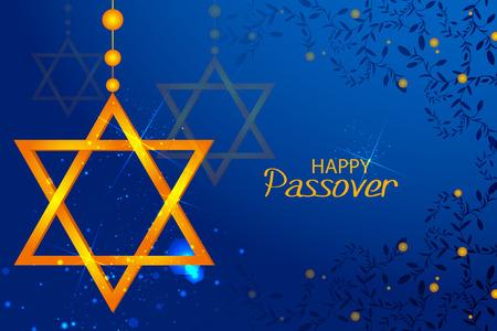 Jewish holiday of Passover Pesach Seder illustration.