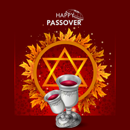 Jewish holiday of Passover Pesach Seder illustration. Stock Vector - 95180345