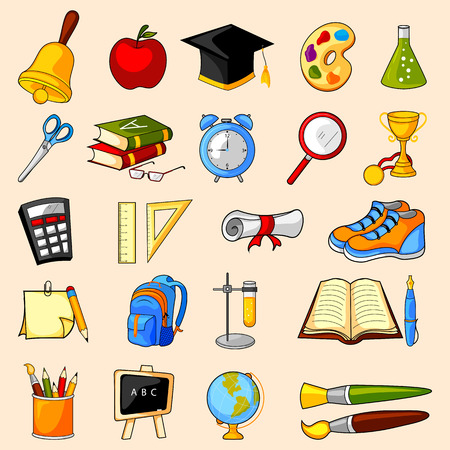 easy to edit vector illustration of education object icon on isolated background  イラスト・ベクター素材
