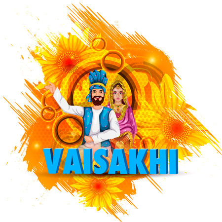 Celebration of Punjabi festival Vaisakhi background