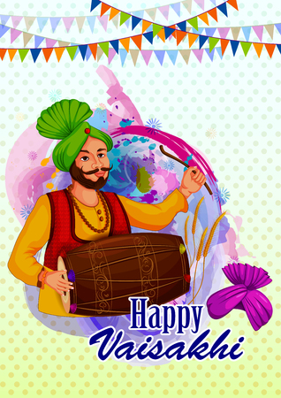 Holiday background design for New Year festival of India Illustration