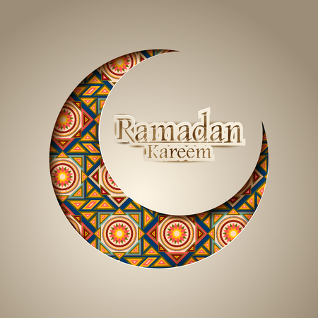 Ramadan Kareem Celebration background. Illustration