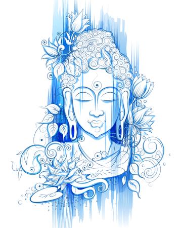 Lord Buddha in meditation for Buddhist festival of Happy Buddha Purnima Vesak