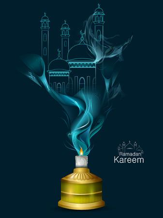 伊斯兰庆祝背景与文本斋月卡里姆
