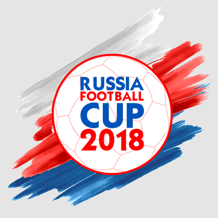 Russia Football Championship Cup soccer sports background for 2018 Zdjęcie Seryjne - 100644902