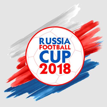 Tło sportowe Mistrzostwa Rosji w piłce nożnej na rok 2018