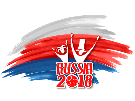 illustration of Russia Football Championship Cup soccer sports background for 2018