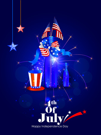 4th of July Independence Day of America background Illustration