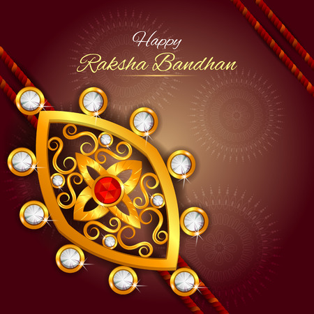 easy to edit vector illustration of Rakhi background for Indian festival Raksha bandhan celebration Illustration