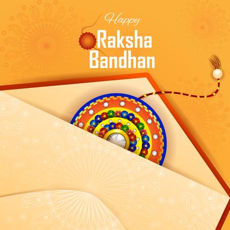 easy to edit vector illustration of Rakhi background for Indian festival Raksha bandhan celebration Illustration