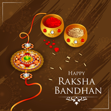 easy to edit vector illustration of Rakhi background for Indian festival Raksha bandhan celebration Vettoriali