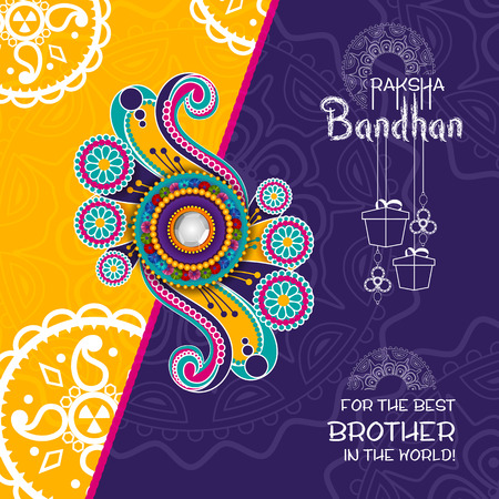 easy to edit vector illustration of Rakhi background for Indian festival Raksha bandhan celebration Vector Illustration