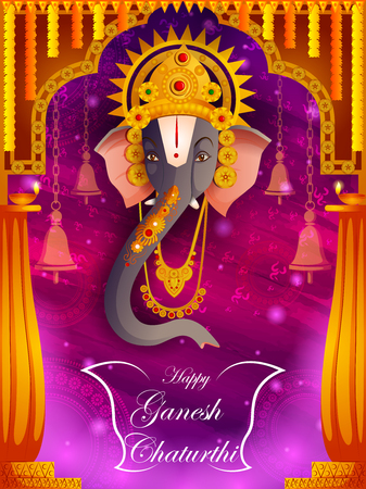 Lord Ganpati on Ganesh Chaturthi festival background