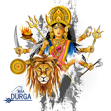행복한 Durga Puja 인도 축제 휴일 배경