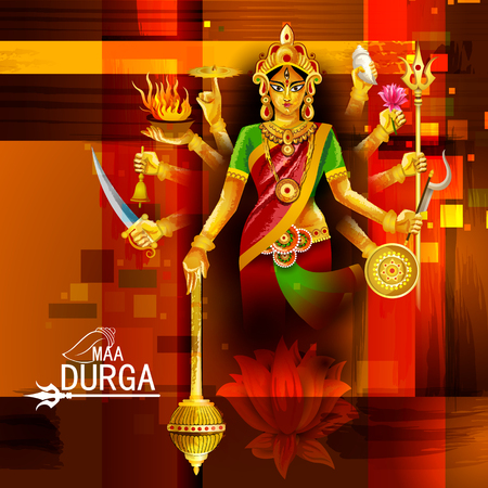 Happy Durga Puja India festival holiday background Фото со стока - 110173982