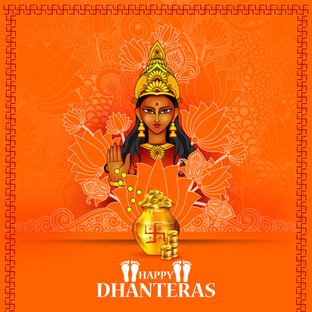 Goddess Lakshmi for Happy Dhanteras Diwali