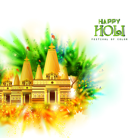 vector illustration of Colorful Happy Hoil background for festival of colors in India