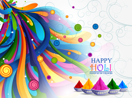 vector illustration of Colorful splash for Holi background