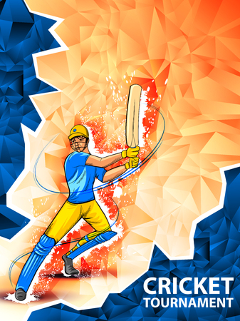Player batsman in Cricket Championship Tournament background