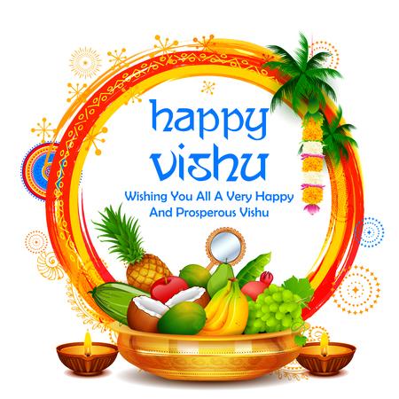 Happy Vishu new year Hindu festival celebrated in the Indian state of Kerala