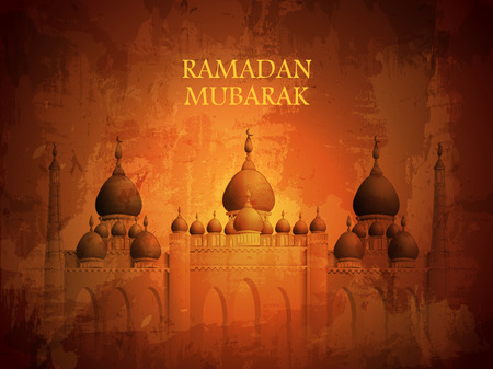 easy to edit vector illustration of Islamic celebration background with text Ramadan Kareem 写真素材 - 124739638