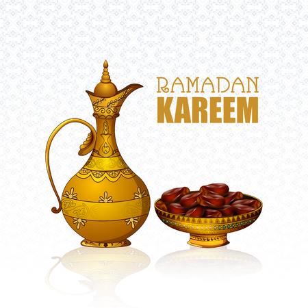 easy to edit vector illustration of Islamic celebration background with text Ramadan Kareem