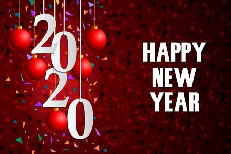 Happy New Year 2020 wishes seasonal greeting background